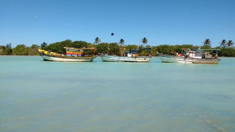 Praia de Urussuquara, em Linhares (Foto: Samira Fernandes/ A Gazeta)