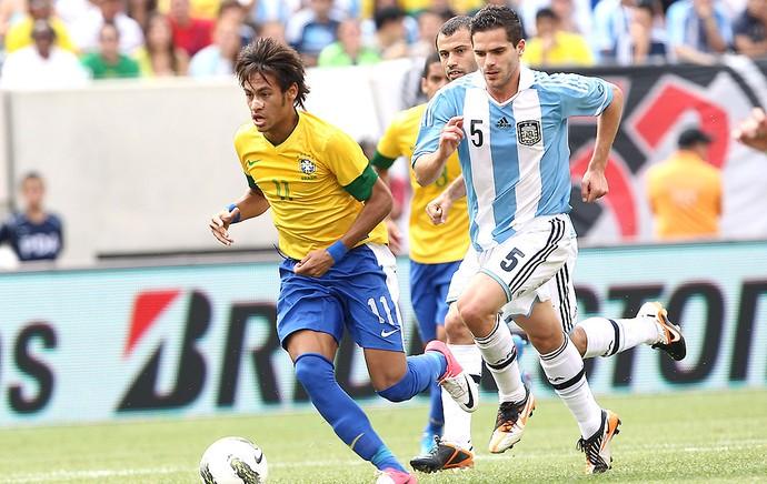 Neymar na partida do Brasil contra a Argentina (Foto: Mowa Press)