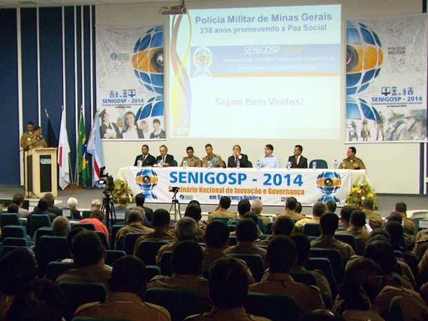 Seminário discutiu ataques a caixas eletrônicos na região (Foto: Tarciso Silva/ Reprodução EPTV)