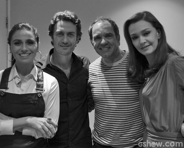 Goivanna, Gabriel, Humberto e Julia sorriem para a lente de Tainá (Foto: Domingão do Faustão/TV Globo)