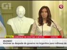 Kirchner se despede de governo na Argentina para milhares de pessoas