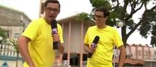 Marcos Paiva conhece 'irmão gêmeo' em Bauru  (Reprodução / TV TEM)