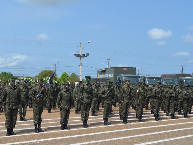 Dia do Soldado é celebrado nesta terça-feira (25) em homenagem ao patrono do exército brasileiro, Duque de Caxias (Foto: Jackson Félix/ G1 RR)