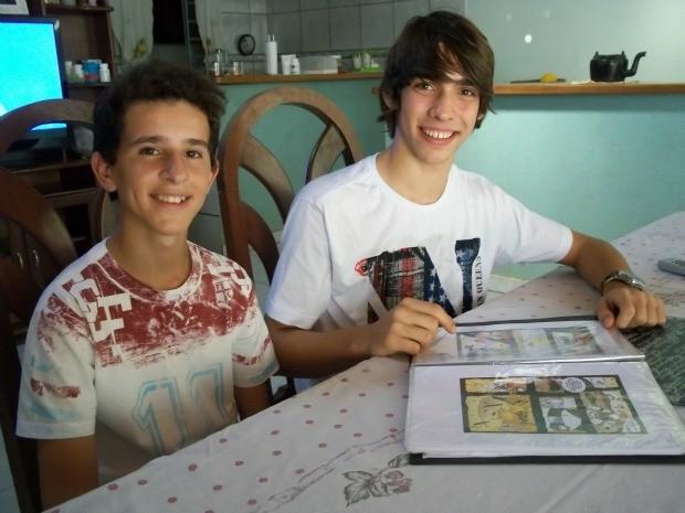 Matheus Rocha, de 16 anos e Fernando Pedro Bom, de 15, já produziram conteúdo para as próximas cinco edições (Foto: Flávio Godoi/Divulgação)