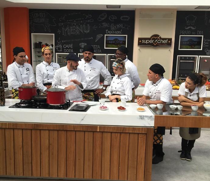 Workshop com o chef Daniel Redondo (Foto: Ícaro Martins/Gshow)