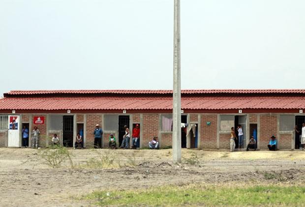 Casa onde os trabalhadores viviam em condição de escravidão em Jalisco, no México (Foto: Hector Guerrero/AFP)