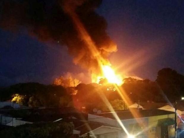 incendio em paraguaçu paulista (Foto: Arquivo Pessoal)