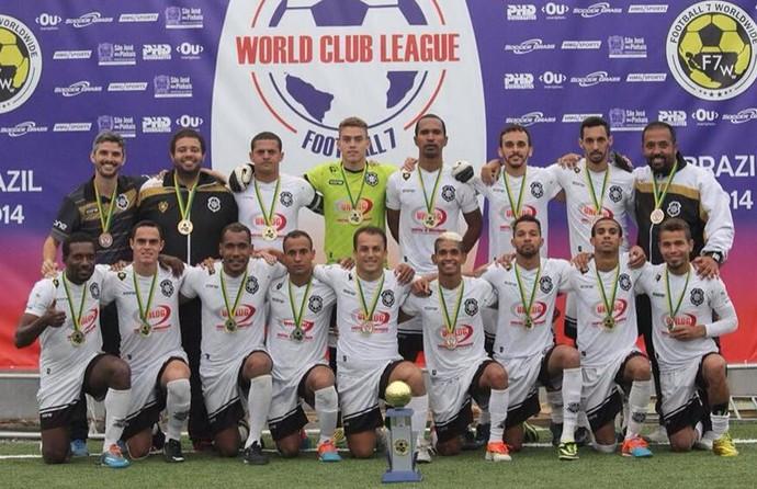 O time do Rio Branco-ES é campeão mundial de futebol 7 (Foto: Divulgação/Liga FUT 7)