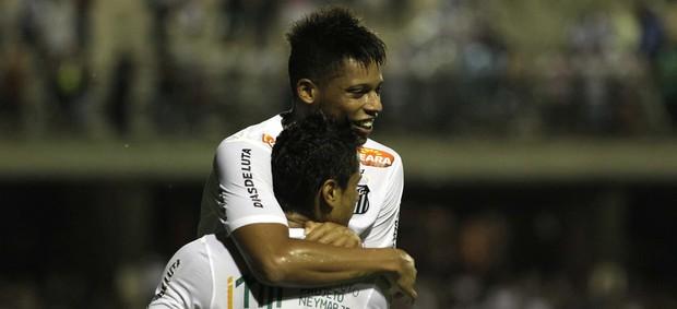 André comemora gol do Santos sobre o Atlético Sorocaba (Foto: Agnaldo Pereira/Agência Estado)