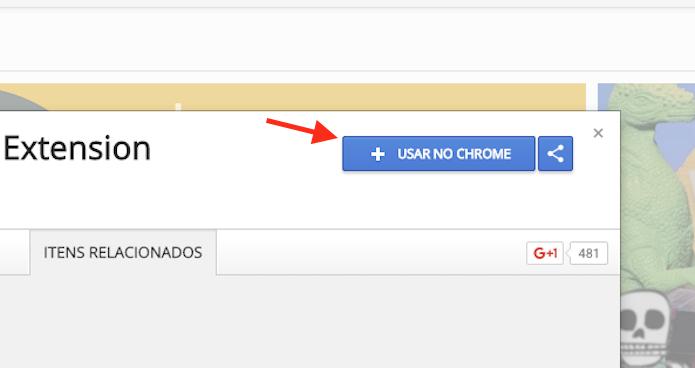 Ação para preparar o download da extensão ImprovedTube para o Google Chrome (Foto: Reprodução/Marvin Costa)