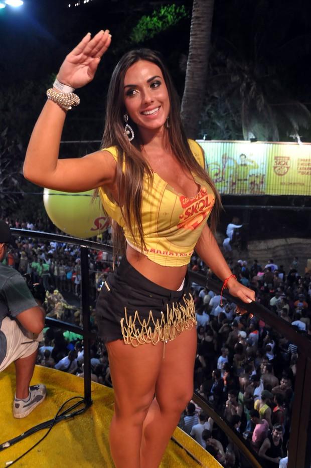 Nicole Bahls em Salvador (Foto: Joilson Cesar/AgHaack)