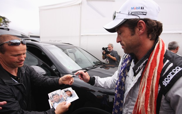 Ator Patrick Dempsey, astro da série Grey's Anatomy, corre as 24 Horas de Le Mans (Foto: Agência Getty Images)