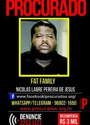 Fat Family está sendo procurado pela polícia (Foto: Reprodução)