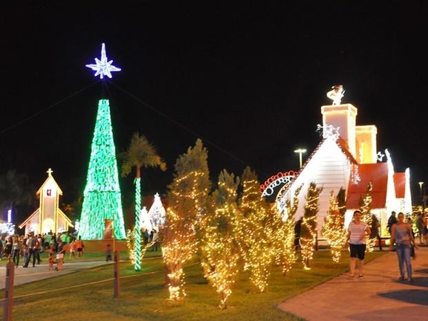 Cidade do Natal em Campo Grande MS (Foto: César Krügel/PMCG)
