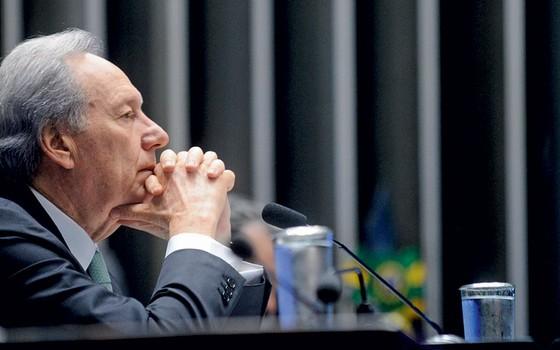 Ricardo Lewandowski durante  julgamento do processo de impeachment da presidente afastada Dilma  (Foto: Marcos Oliveira/Agência Senado)