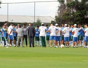 Paulo Nobre Gilson Kleina treino Palmeiras (Foto: Cleber Akamine)