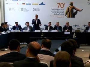 João Doria, prefeito eleito de SP, discursa para prefeitos em Campinas (Foto: Reprodução EPTV)