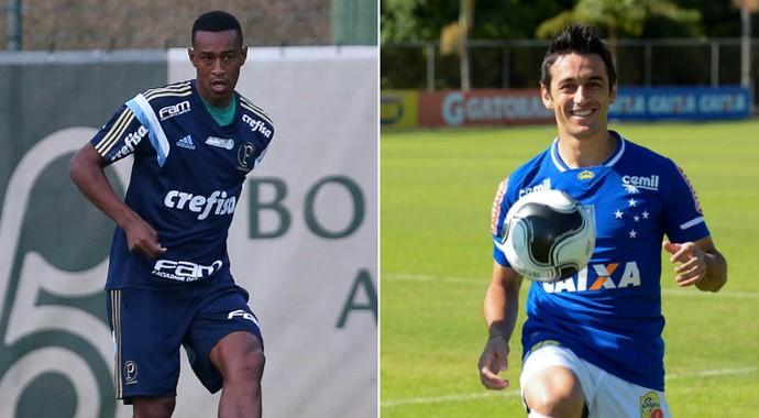 Fabrício e Robinho ainda não tiveram seus contratos regularizados (Foto: Montagem GloboEsporte.com)