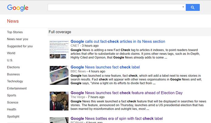 Google Notícias terá checagem de fatos para impedir a disseminação de notícias falsas (Foto: Reprodução/Filipe Garrett)