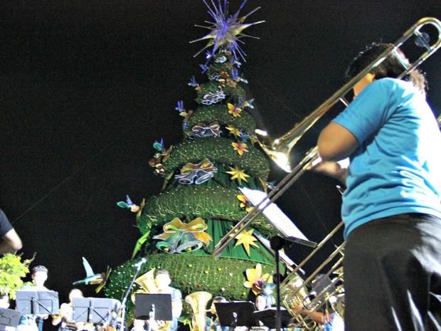 Arvore de Natal (Foto: Ive Rylo/G1 AM)