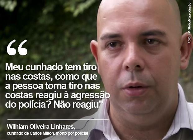Depoimento párente de vítima de violência (Foto: TV Globo/Reprodução)