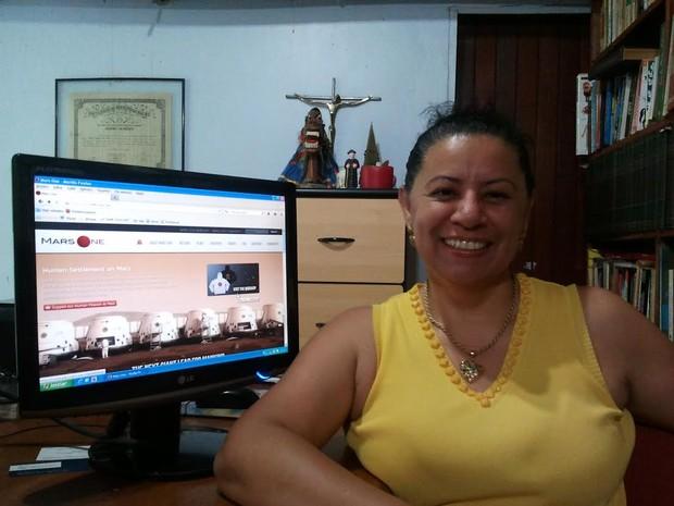 Professora Sandra Maria Feliciano (Foto: Arquivo pessoal)