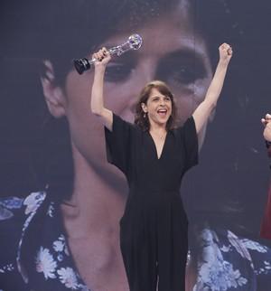 Drica vence como atriz coadjuvante e avisa: 'Estarei de volta' (Felipe Monteiro/ Gshow)