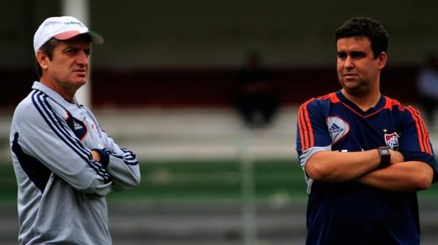 Leomir e o observador Fábio Moreno, campeão com a seleção nos Jogos do Rio
