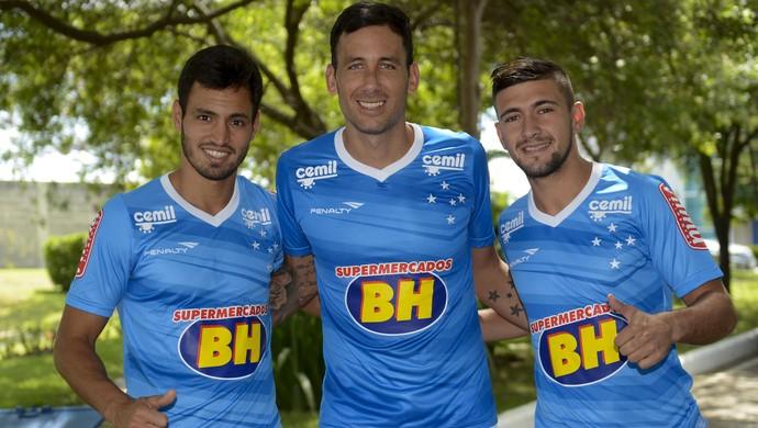 Cruzeiro; Sánchez Miño; Ariel Cabral; Arrascaeta (Foto: Washington Alves / Light Press)