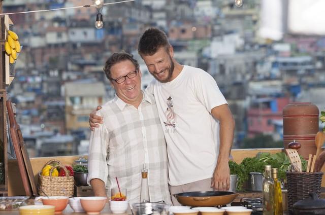 Claude Trisgros e Rodrigo Hilbert (Foto: Thiago Facina/ GNT)