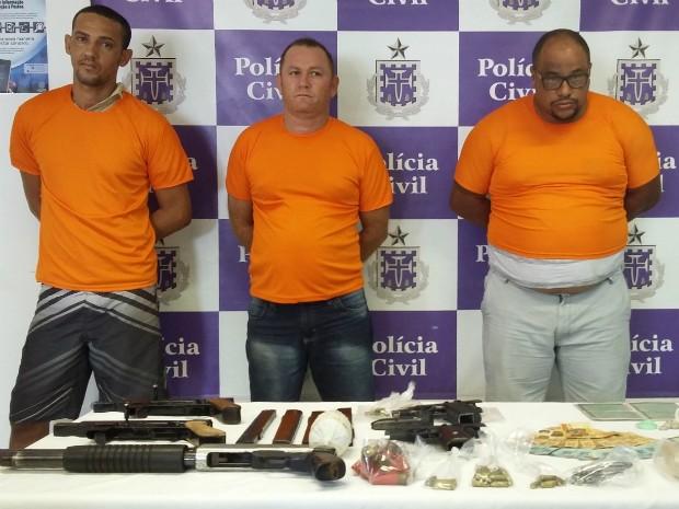 Da esquerda para a direita: Pedro, Jailton e José (Foto: Divulgação/Polícia Civil)