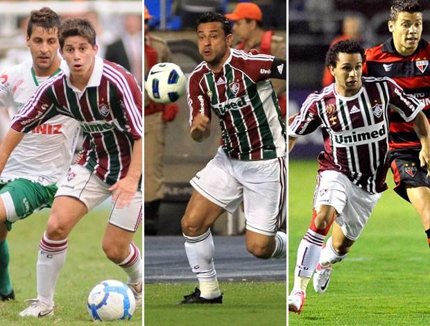 Fluminense 2010, 2011, 2012 (Foto: Montagem sobre foto da Photocâmera)
