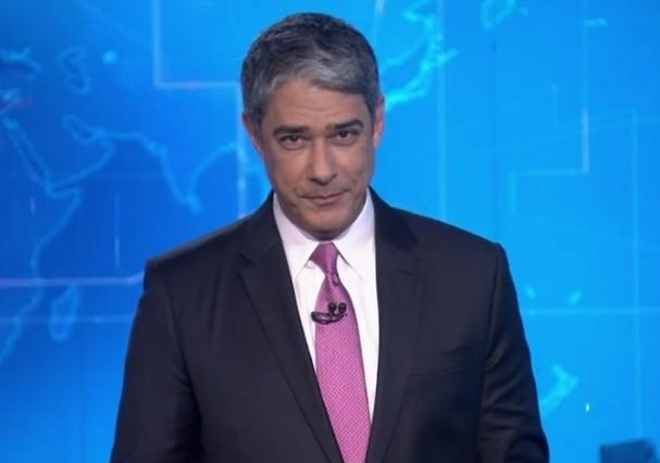 Bonner brincou com telespectadores ao confundir os dias (Foto: TV Globo/Reprodução)
