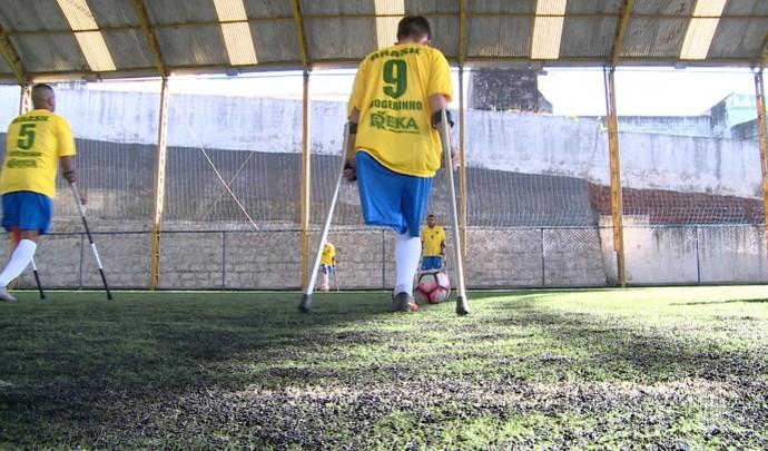 Mais Diário acompanhou o treino da Seleção Brasileira de Futebol de Amputados (Foto: Reprodução / TV Diário )
