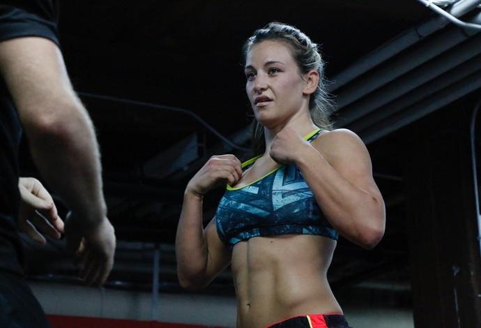 Miesha Tate treino aberto UFC Chicago (Foto: Evelyn Rodrigues)