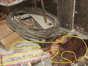 Marca mostra como o corpo de Beatriz foi encontrado (Foto: Divulgação/Polícia Civil)