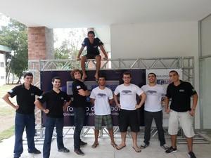 Equipe de Robótica da Ufes (Erus) no primeiro Trufes (Foto: Divulgação/Erus)