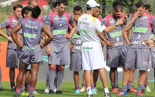 Grupo do Figueirense realiza atividade física na pré-temporada 2013 (Foto: Luiz Henrique, FFC)