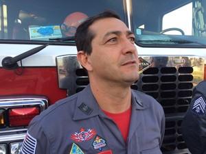 Sargento Amarilson trabalhou no acidente da Mogi-Bertioga (Foto: Cristina Requena/G1)
