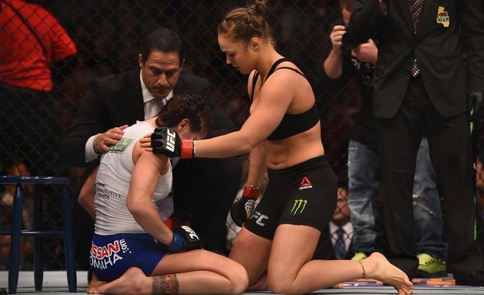 Ronda Rousey Cat Zingano UFC 184 (Foto: Getty Images)