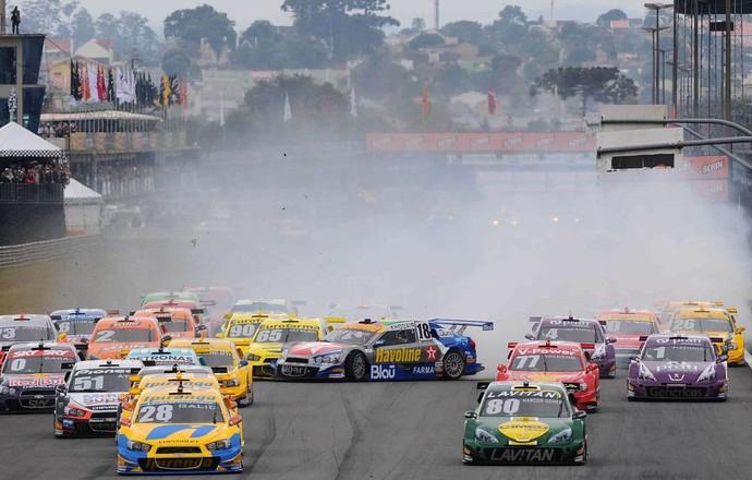 Stock Car Curitiba corrida 1 Khodair (Foto: Duda Bairros/Vicar)