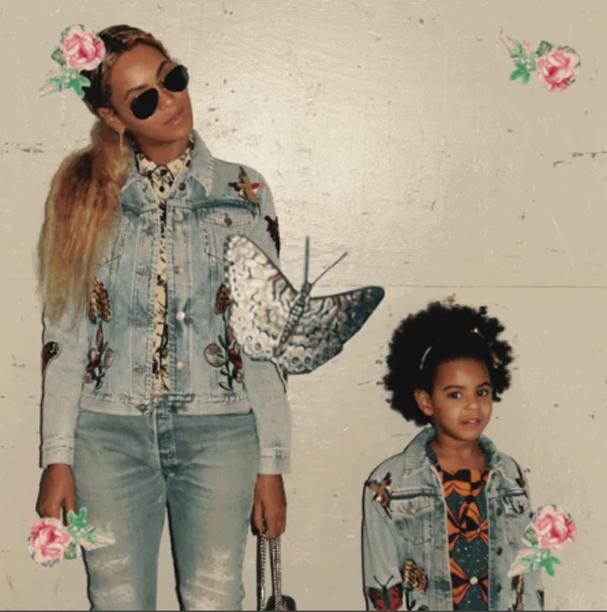 Beyoncé e Blue Ivy (Foto: Reprodução/Instagram)