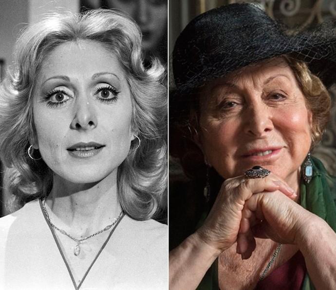 Aracy Balabanian, em 1974, encarava um de seus primeiros personagens na televisão em 'Corrida de Ouro'. Atualmente, a atriz vive a doce e feliz Consuêlo, tia de Augusto, personagem de Selton Mello (Foto: CEDOC / Esevam Avellar / TV Globo )