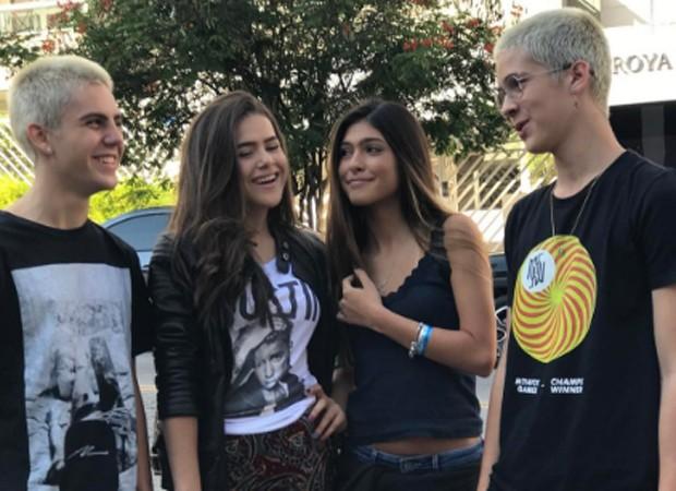 Lucca Perez, Maísa Silva, Fernanda Concon e João Guilherme (Foto: Reprodução/Instagram)