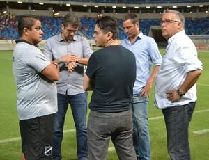 Josué Teixeira - técnico do ABC - dirigentes - Pastana (Foto: Jocaff Souza/GloboEsporte.com)