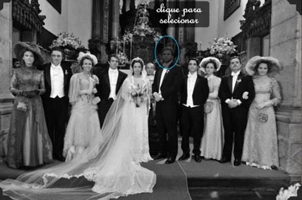 Foto de casamento em Lado a Lado: coloque seu rosto no lugar dos personagens (Foto: Divulgação / TV Globo)
