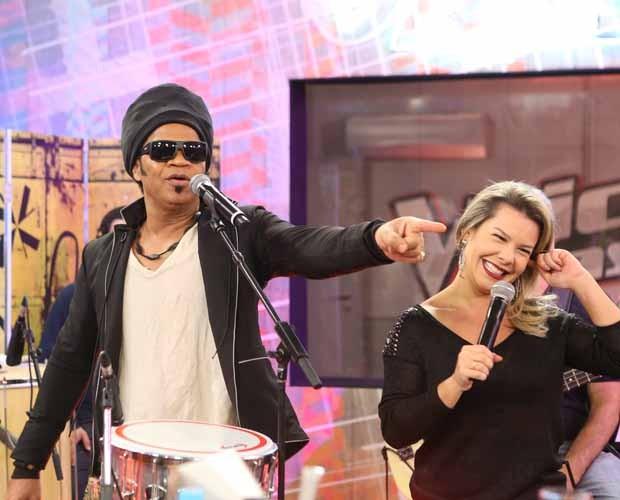 Brown e Fernanda - The Voice Web (Foto: Isabella Pinheiro/Gshow)