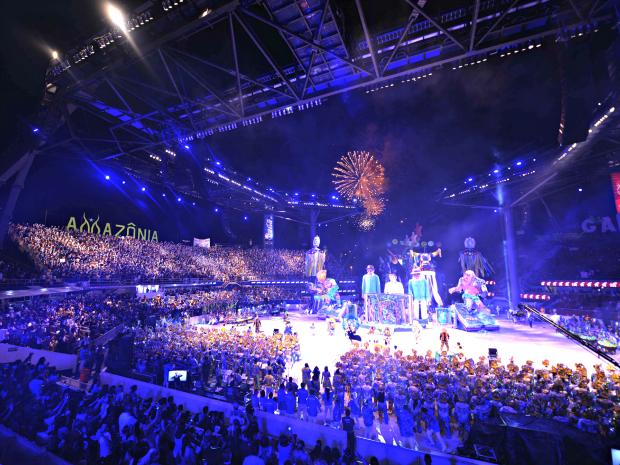 Boi Caprichoso abriu a terceira noite de apresentações (Foto: Divulgação/ Secom)