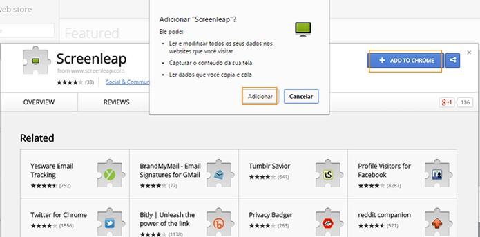 Instale o Screenleap no Google Chrome (Foto: Reprodução/Barbara Mannara)