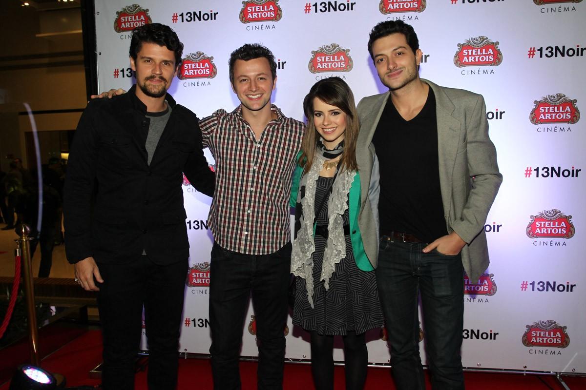 Felipe Solari, Lucas Lima, Sandy e Pedro Urizzi (Foto: Manuela Scarpa/Foto Rio News)